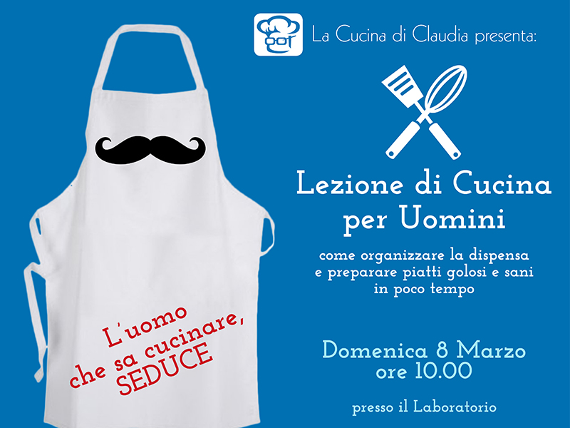 Lezione di cucina per uomini alla Cucina di Claudia Pavia di Udine