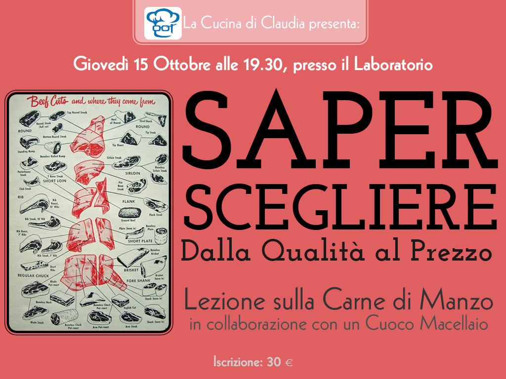 Lezione carne di manzo La Cucina di Claudia Pavia di Udine