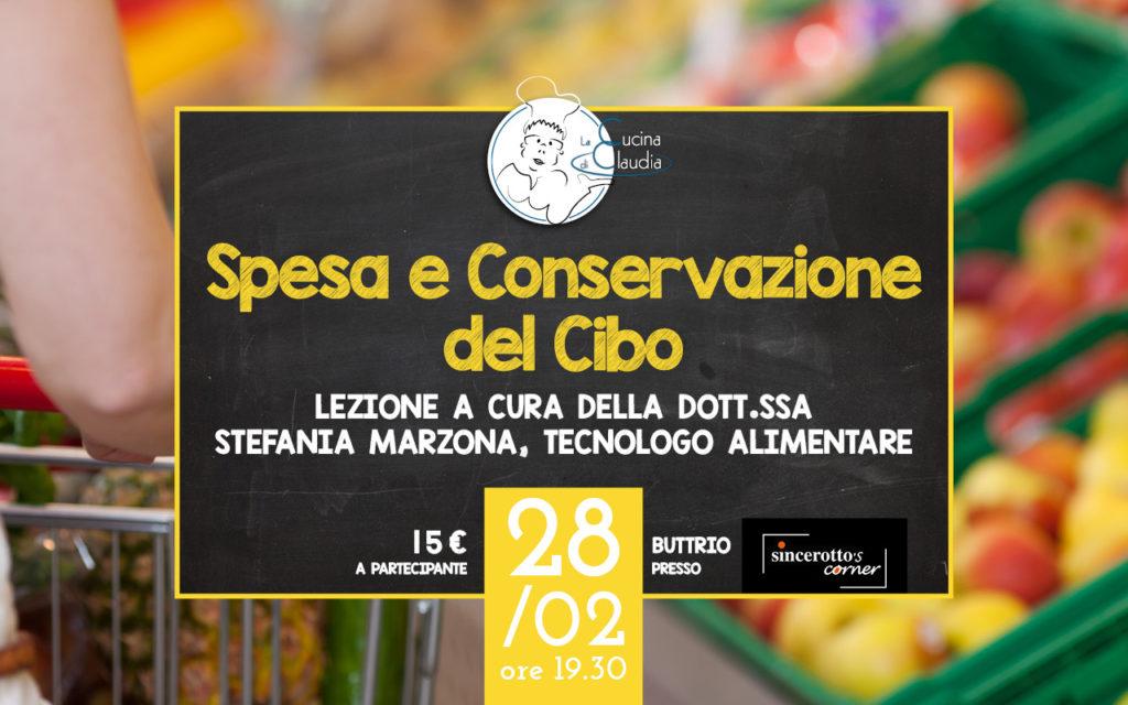 lezione spesa e conservazione del cibo con stefania marzona lezioni 2018 la cucina di claudia pavia di udine sincerotto