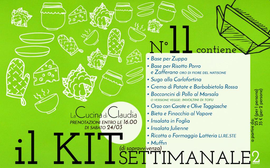 Kit settimanale num. 11 2018 La Cucina di Claudia Pavia di Udine