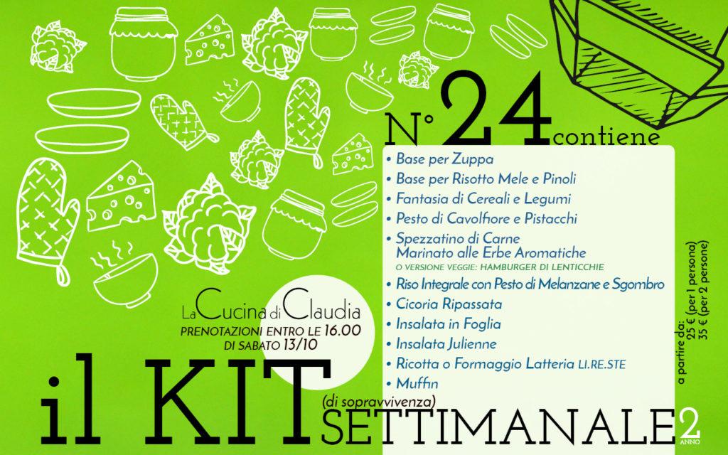 Kit settimanale num. 24 2018 La Cucina di Claudia Pavia di Udine