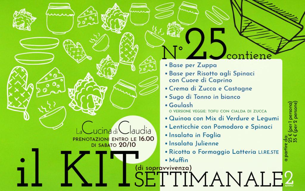 Kit settimanale num. 25 2018 La Cucina di Claudia Pavia di Udine