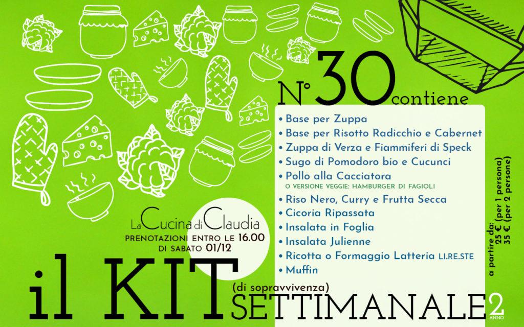 Kit settimanale num. 30 2018 La Cucina di Claudia Pavia di Udine